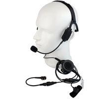 walkie militar al por mayor-Hot Finger PTT MIC Military Bone Conducción Tactical Headset Auriculares para Motorola MTP850 MTH850 Ham Radio Walkie Talkie C2215A