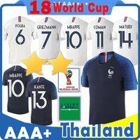 Wholesale martial uniforms - HOME Soccer Jersey 2018 World cup 7 GRIEZMANN 10 MBAPPE 6 POGBA 8 LEMAR 13 KANTE 20 Martial 9 GIRQVD Blue 11 DEMBELE football uniforms