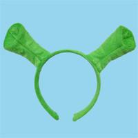 trajes de cabeça venda por atacado-Halloween Crianças Adulto Mostrar Hair Hoop Shrek Hairpin Orelhas Cabeça Cabeça Círculo Partido Traje Item Masquerade Partido Suprimentos 2 6lw gg