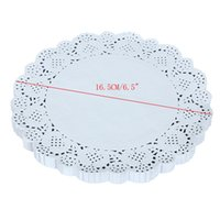 Wholesale Lace Paper Doilies Vintage - Wholesale- 150pcs 16.5CM 6.5Inch Lace Paper Doilies Doyley Mat Craft DIY Scrapbooking Wedding Decoration Vintage napkin Hollowed