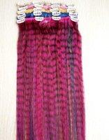 remy insan saç uzatma renkleri toptan satış-20 inç Tek Parça Leopar İnsan Saç Uzantıları Klip 4 Klipler Tek Parça 5 Adet / takım Beş Renkler Mevcut Remy Klip Ins