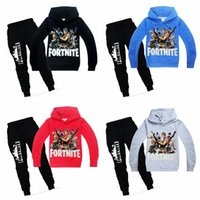 Wholesale boys hoodies for sale - Children fortnite tracksuit years big boy long sleeve hoodies sweater jacket with pants suit kids casual outfits on autumn winter