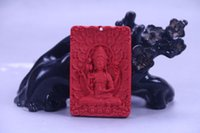 Wholesale new hand pole resale online - 100 natural cinnabar exquisite chinese hand carving statue