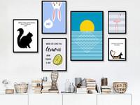 Wholesale Modern Nursery Pictures - GZCJHP Nordic Art Flamingo Rabbit Minimalist Canvas Poster Painting Cartoon Modern Nursery Picture Print Baby Room Decoration