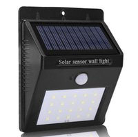 Wholesale solar indoor 16 led lights for sale - Group buy PIR Solar Powered LED Wall Lamp LED LEDs Lights Wall Light Ray Motion Sensor Light Motion Detection Path GardenYard light