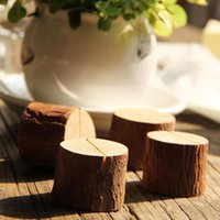 doğal ahşap dekorasyon toptan satış-Ağaç Güdük Zanaat Yeri Kart Tutucu Ahşap Dilim Rustik Tarzı Fotoğraf Klip Ev Doğal Ahşap Dekorasyon NNA122