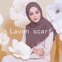 Wholesale hijab new design - NEW design Patchwork pleat bubble chiffon Wrinkle shawls hijab drape stitching muslim scarves scarf 20 color 10pcs lot