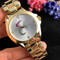 Wholesale couples beautiful - New high quality Spanish Female cute wrist watch elegant Royal lady watch rose gold couple creative quartz watch beautiful gift wholesale