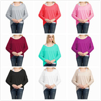 Wholesale plus size maternity clothes online - 10Colors Women Loose Irregular Solid Cotton Long Sleeve Tshirts Fashion Sweaters Knitted Round Neck Plus Size Women Clothing Maternity Tops