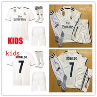 Wholesale football shirt kids kit - 18 19 Real Madrid soccer jersey KIDS kits 2018-2019 Football shirtS RONALDO Asensio SERGIO MODRIC RAMOS MARCELO BALE ISCO child Soccer Sets