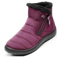 sola feminina para botas venda por atacado-2018 botas de neve sapatos femininos inverno feminino pele quente superior resistente à água plus size moda antiderrapante único novo estilo
