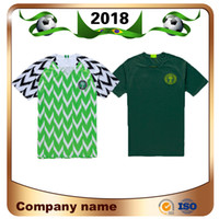 Wholesale Dry Sell - 2018 Direct Selling World Cup Nigeria Soccer Jersey Home 9 Starboy Shirt Away Blackish Green Okechukwu Dayo Ojo Osas Okoro Football Uniforms