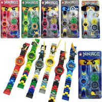 Wholesale ninja building toys - Super heroes DC Avengers Building blocks Original box Watch ninja Bricks kids watch Toys for christmas gift