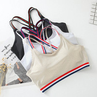 Wholesale brassiere cup size - 2018 new style sports ladies' vest without steel ring, lady's brassiere, no trace sleep comfort underwear