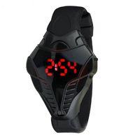 cobra negro animal al por mayor-Relojes digitales 100% de la nueva moda Cobra Design Black Red Display Luxury Sport Watch Hombre para hombre