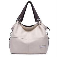 Wholesale vintage leather doctors bag - 2018 Women Versatile Handbag Soft Offer PU Leather bags Zipper messenger bag  Splice grafting Vintage Shoulder Crossbody Bags