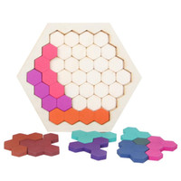 Wholesale logic puzzles for sale - Honeycomb Logic Puzzles Wooden Desktop Educational Toys Children Training Brain Teaser IQ Games Kids Gift