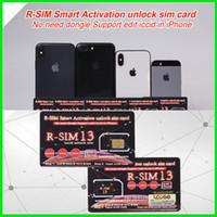 heicard iphone venda por atacado-Original Rsim 13 ativação Inteligente Desbloquear Cartão SIM Cartão de Desbloqueio Heicard para iPhone 7 8 XS MAX