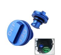 ingrosso schivare il blu-Tappo di protezione del gas diesel Tappo DEF blu Set per 2013-2017 Dodge Ram Magnetic Aluminium