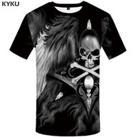 84c27336744 KYKU Skull T shirt Women Punk Clothing Funny 3d T-shirt 3D Shirts Plus Size  Tops Womens 2018 Big Fitness XS-8XL