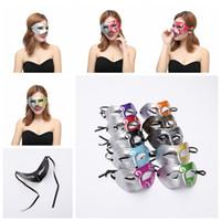 Wholesale roman women costumes for sale - Roman Gladiator Mask Half Faces Mask Halloween Costume Party Mask For Women Men Venetian Mardi Gras Masquerade AAA1261