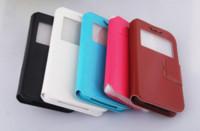 capa giratória universal para telefone polegada venda por atacado-Universal Flip Case Janela PU Leather Wallet Caso COVER Para 4.0 4.8 5 5.5 polegadas para todos os telemóveis