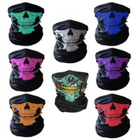 bufandas de moto al por mayor-Skull Neck Face Mask Mujeres Bufandas bufanda motocicleta bicicleta deportes al aire libre Máscara Head Hood Protector Bandanas regalo de Halloween
