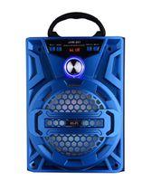 ingrosso woofer bluetooth portatile-Grande altoparlante stereo Bluetooth audio dell'altoparlante portatile AUX woofer esterno senza fili di rotazione del volume Contro LED Luce TF FM Radio JHW-801