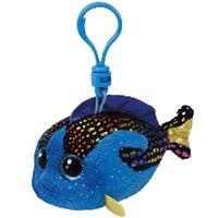 ingrosso boo blu-Ty Beanie Boos Aqua the Blue Fish Ciondolo piccolo peluche Clip da gioco ripiene Soft Doll 4