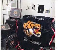 korallen-großhandel decken großhandel-Großhandel Tiger EmbroideryGoddess Decke Mode Korallen Fleece Teppiche Für Wohnzimmer Tiger Druck Schlafdecken Für Baby 150 *