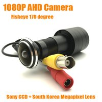 Wholesale lux cameras for sale - Group buy 1080P M HD Indoor Door Eye Hole Color AHD Home Camera SONY IMX323 Sensor StarLight Lux degrees Surveillance Camera