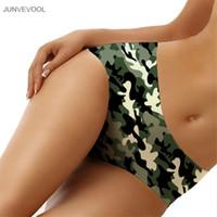 meninas camuflagem shorts venda por atacado-Roupa interior das mulheres Calcinhas Meninas Calcinhas Hipster Briefs Calças 3D Camuflagem Impressão Cueca Calções Tamanho Grande Calcinha Lingerie Sexy