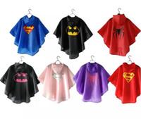 serin kostümler toptan satış-Çocuklar Su Geçirmez Serin Yağmurluk Baskı Tarzı Serin Yağmur Giysi Cosplay Kostüm Yağmur Dişli Tam Vücut Açık Aşınma Düğm ...