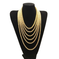 Wholesale 20 inch White K Sliver Gold Chain Link Hip Hop Jewelry Designer Jewelry Iced Out Chains Mens Necklace Mens Chains