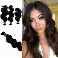 Wholesale 24 human braiding hair for sale - Group buy Body Wave Hair Bulk Mongolian Brazilian Human Hair for Braiding Bundles Hair Extensions Large Stock Fast Shipping FDSHINE