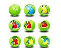 montagem de jogos venda por atacado-Quebra-cabeça Criativo Cubo Bola Cápsula Pinata Educacional Inteligência Montagem Bola Para Pingente Crianças Favores Do Aniversário Jogo Brinquedos
