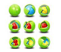 juegos de ensamblaje al por mayor-Rompecabezas creativo Cubo Bola Cápsula Piñata Educativa Inteligencia Bola de Montaje Para Colgante Niños Favores de Cumpleaños Juguetes de Juego