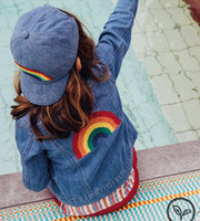 Wholesale boys jeans jackets - Kids Jeans Jacket Casual Girls Boys Jeans Jacket Long Sleeve Embroidered Rainbow Denim Jacket Coat Children Age 1-7Years
