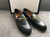 mocasines mocasines para mujer al por mayor-Las mejores mocasines de moda de cuero genuino mulas de lujo zapatos mocasines de alta calidad zapatos Horsebit zapatos rojos planos oficina vestido zapato