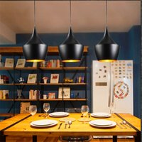 Wholesale Wholesale Game Rooms - LED Retro Vintage Industrial Pendant Light Fixtures Design Black White Hanging Lamp Cafe Game Room Restaurant pendant lamps instruments