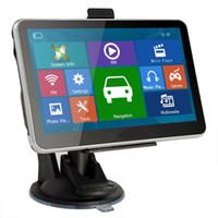 avin auto gps großhandel-heißer HD 7 Zoll Auto GPS Navigator Bluetooth AVIN FM 800 * 480 Touch Screen 800MHZ WinCE6.0 neueste 4GB IGO Primo Diagramme