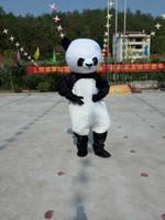 panda fantasia venda por atacado-Alta Qualidade Urso Adulto Traje Da Mascote Panda Adorável Tema Carnaval Dos Desenhos Animados Trajes Mascotte Kits de Vestido Extravagante