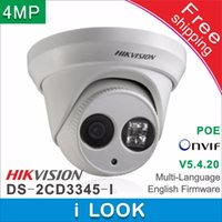 Wholesale array networks - Free shipping Hikvision DS-2CD3345-I replace DS-2CD2342WD-I 4MP array 30m CCTV Camera IR Network Dome security ip camera H265