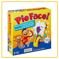 Wholesale smash toys - Novel Tricky Desktop Interactive Toy Pie Face Cream Smashing Machine Parent Child Interaction Toys Gag Games Suit 18xy W