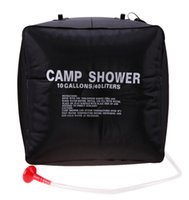 Wholesale solar showers resale online - Foldable Outdoor Camping Hiking Solar Energy Heated Camp Shower Bag L PVC Water storage Bag