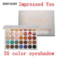 Wholesale makeup pallette resale online - Beauty Glazed Makeup Palette Colors Eyeshadow Palettes Impressed You Matte Shimmer Eye Shadow Pallette Making Up Beauty DHL
