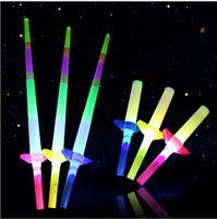ingrosso luce spot normale-Bastone telescopico Bagliore Bagliore Flash LED Bastone luminoso Spada fluorescente Bastoni luminosi LED Cheer Puntelli Festival Carnevale di Natale Concerti Giocattoli