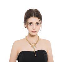золотые чокеры для женщин оптовых-whole saleNew Fashion  Chokers Necklaces  Crystal Scorpion Pendants Alloy Necklace For Women Gold Rope Chain Punk Design