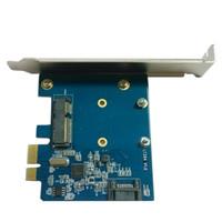 feste tablette großhandel-PCIE zu MSATA + SATA3.0 Desktop-Erweiterungskarte Solid-State-Festplatte Transfer-Box