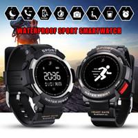relojes de pulsera de control remoto al por mayor-Bluetooth 4.0 Reloj deportivo Reloj inteligente IP68 Impermeable Ritmo cardíaco Control de sueño Cámara remota Podómetro Alarma Reloj de pulsera